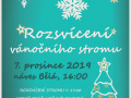 Rozsvícení vánočního stromku v Bělé