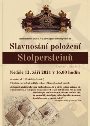 Slavnostní položení Stolpersteinů