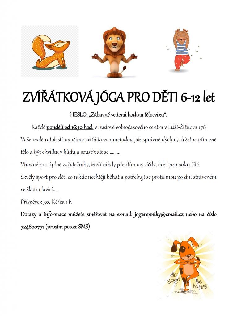 Zvířátková jóga